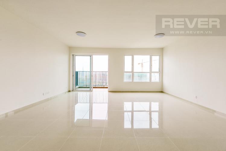 Phòng khách Căn hộ Vista Verde tầng cao tháp T1, 3 phòng ngủ, nội thất cơ bản, view sông