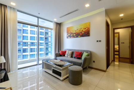 Cho thuê căn hộ Vinhomes Central Park 2PN, đầy đủ nội thất, view sông, hướng Đông Nam đón gió