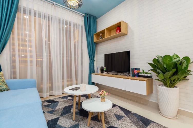 Phòng khách căn hộ The Sun Avenue Căn hộ The Sun Avenue nội thất hiện đại, view thành phố sầm uất.