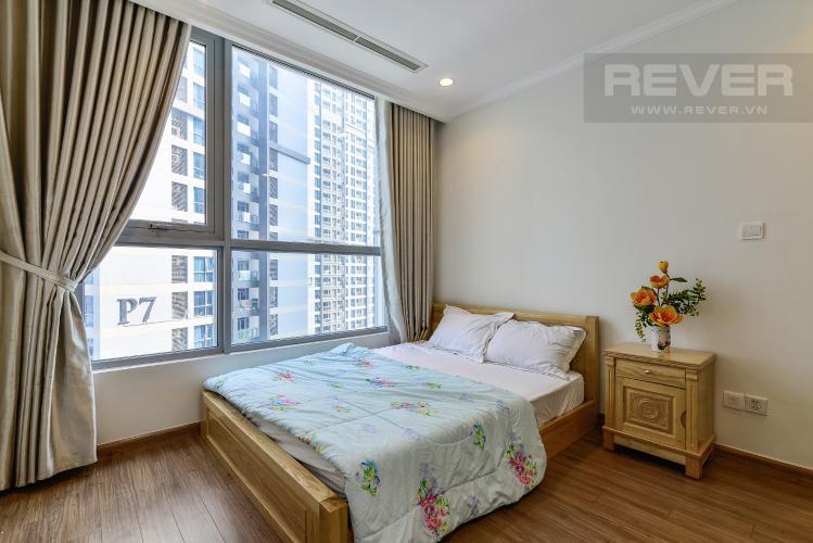 Phòng Ngủ 1 Căn hộ Vinhomes Central Park tầng trung, 2PN, nội thất đầy đủ