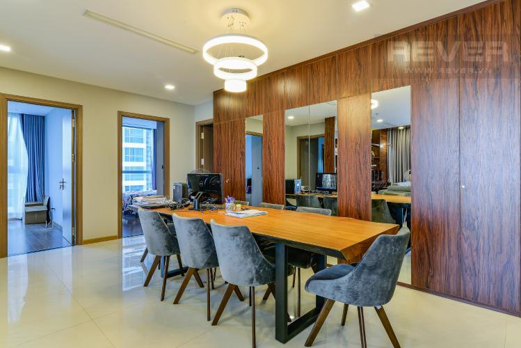 Phòng Ăn Căn hộ Vinhomes Central Park 4 phòng ngủ tầng thấp P2 view sông