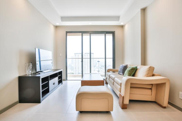 Phòng Khách Căn hộ The Gold View 2 phòng ngủ tầng trung A3 view sông