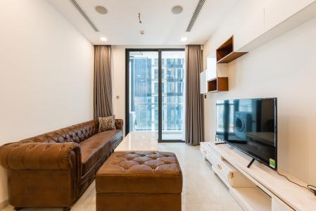 Căn officetel Vinhomes Golden River tầng cao, nội thất đầy đủ, cho thuê giá tốt