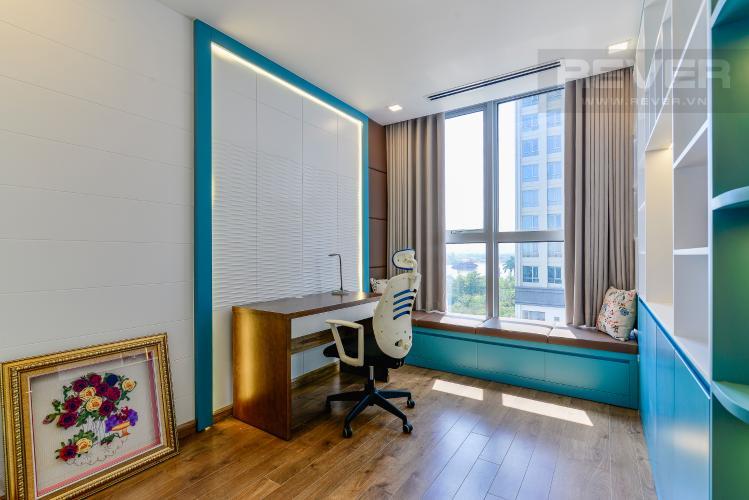 Phòng Ngủ 3 Căn hộ Vinhomes Central Park 4PN, tầng thấp, đầy đủ nội thất