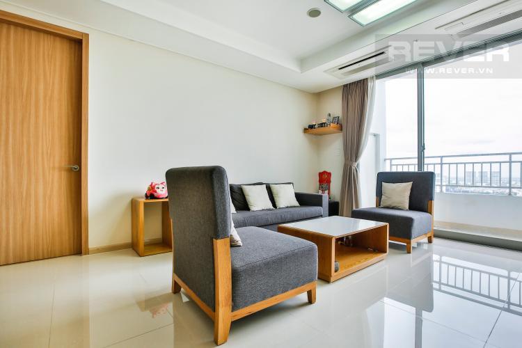 Phòng Khách Căn hộ Cantavil Premier tầng cao D2 nội thất đầy đủ