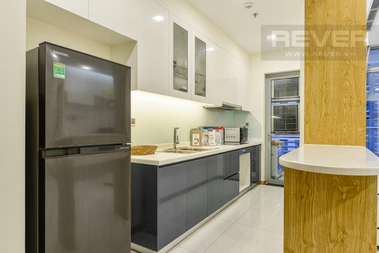 Bếp Cho thuê căn hộ Vinhomes Central Park tầng cao, 2PN đầy đủ nội thất view sông