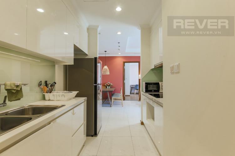 Phòng Bếp Cho thuê căn hộ Vinhomes Central Park 3 phòng ngủ, đầy đủ nội thất, view nội khu