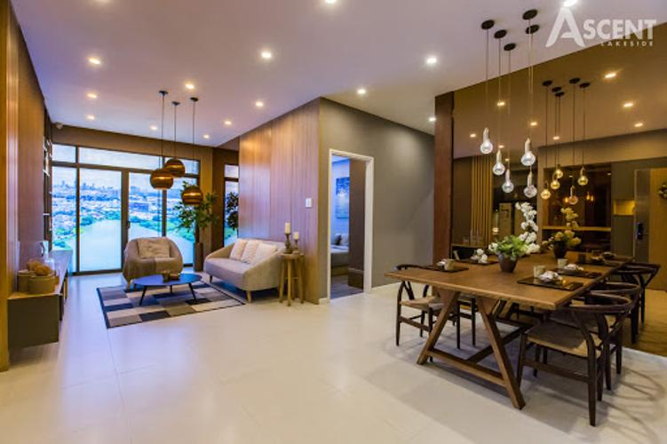 Phòng khách căn hộ Ascent Lakeside, Quận 7 Căn hộ Ascent Lakeside view tầng cao thoáng mát, nội thất cơ bản.
