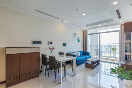Bán căn hộ Vinhomes Central Park 2PN, tầng cao, nội thất đầy đủ, view sông thoáng mát