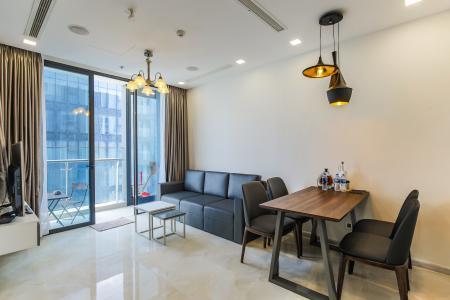 Cho thuê căn hộ Vinhomes Golden River 2PN, tầng cao, đầy đủ nội thất, view sông Sài Gòn