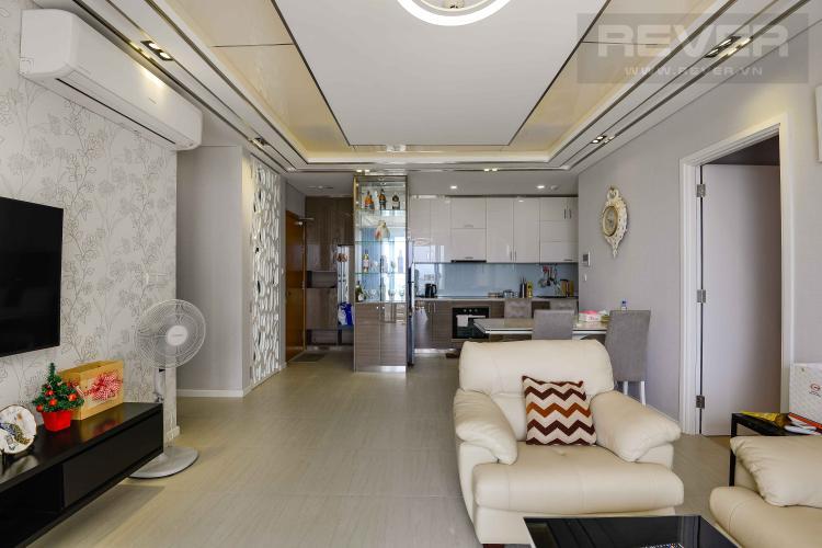 Phòng Khách Cho thuê căn hộ Diamond Island - Đảo Kim Cương, tháp Hawaii, đầy đủ nội thất, view trực diện sông