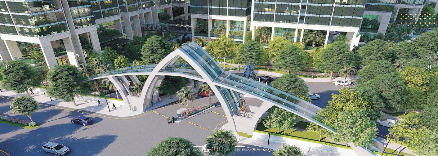 cổng vào căn hộ Sunshine City Sài Gòn Bán căn hộ Sunshine City Sài Gòn tầng cao hướng cửa Đông Bắc, diện tích  84.2m2, 2 phòng ngủ, thiết kế hiện đại.