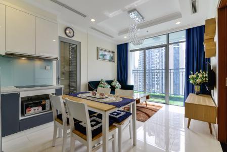 Cho thuê căn hộ Vinhomes Central Park tầng cao 2PN 2WC, đầy đủ nội thất tiện nghi
