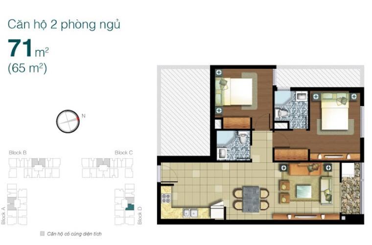 Căn hộ 2 phòng ngủ Căn hộ Lexington 2 phòng ngủ tầng thấp LD đầy đủ nội thất