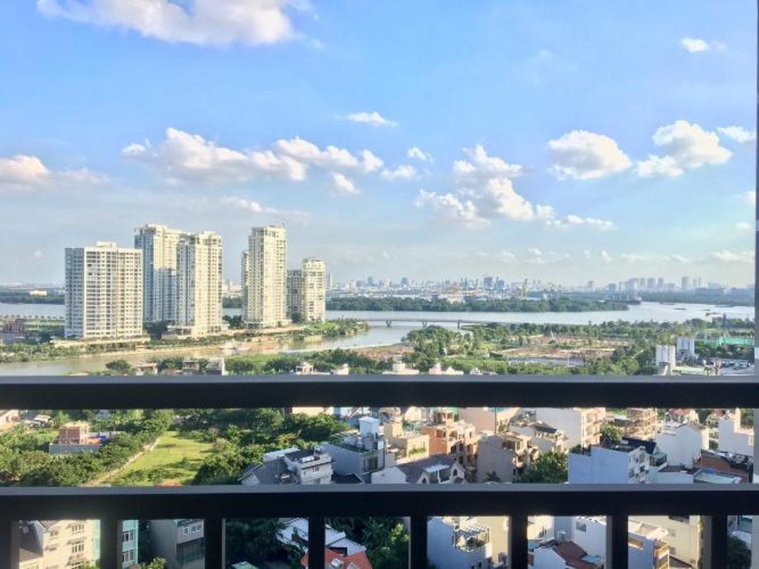 view Cho thuê căn hộ The Sun Avenue 2PN, đầy đủ nội thất, view sông Sài Gòn và Đảo Kim Cương