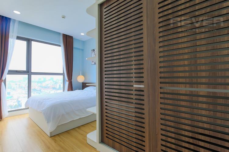 Phòng Ngủ 2 Cho thuê căn hộ Masteri Millennium tầng cao 2PN đầy đủ nội thất view sông
