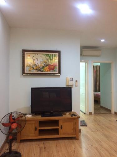 Phòng khách căn hộ Copac Square, Quận 4 Căn hộ Copac Square nội thất đầy đủ hiện đại, ban công Đông Nam.