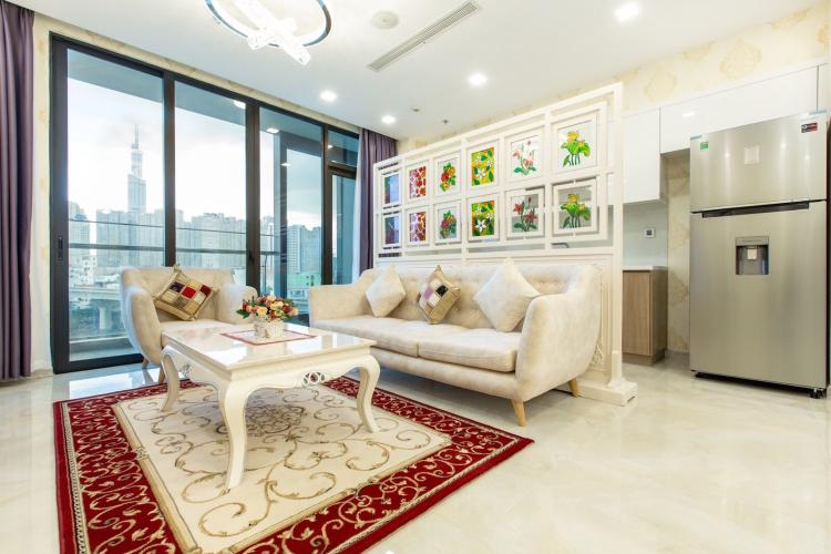 Bán căn hộ Vinhomes Golden River 2 phòng ngủ - diện tích 75m2, nội thất cơ bản.