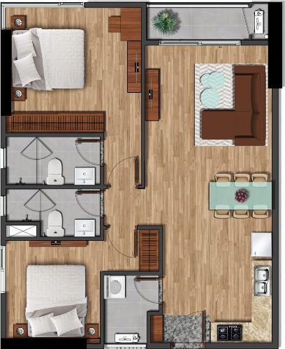 Căn hộ tầng cao Akari City bàn giao nội thất cơ bản.