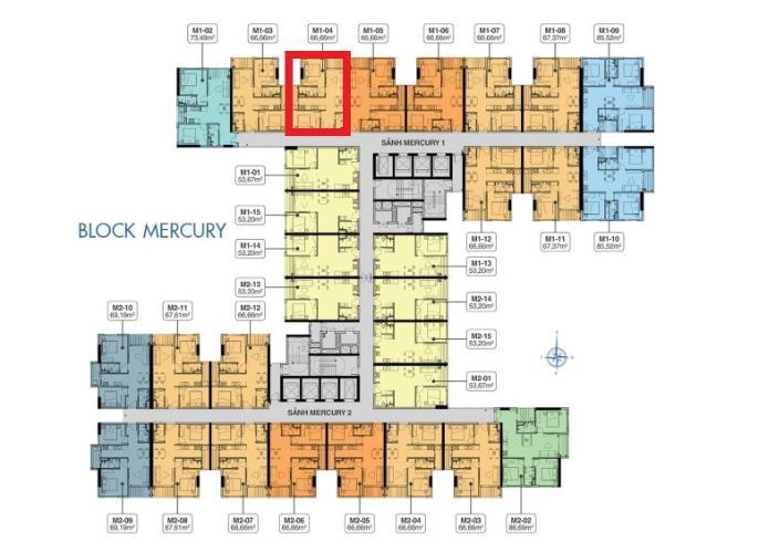 M1.04 Lo1 Bán căn hộ Q7 Saigon Riverside thuộc tầng trung, diện tích 66.6m2