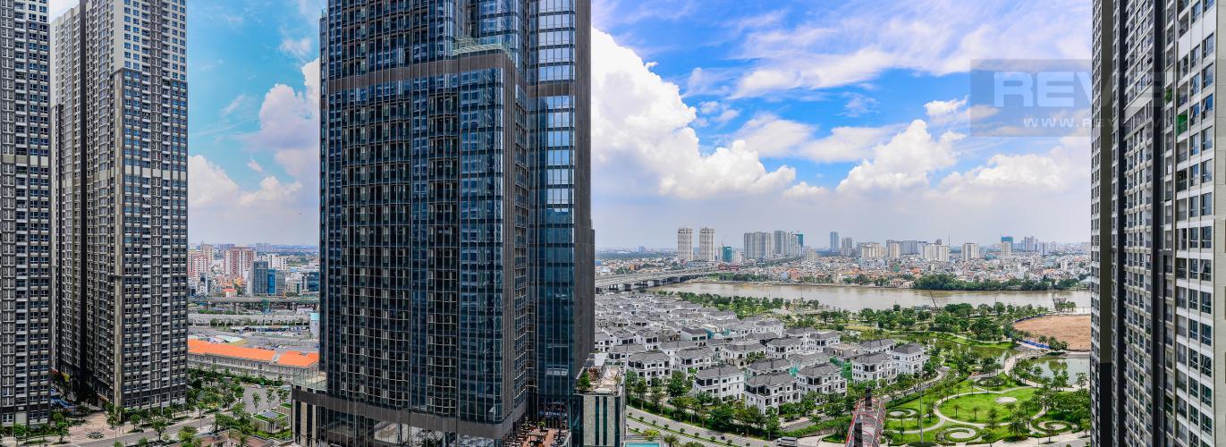 View Cho thuê căn hộ Vinhomes Central Park tầng cao, tháp Landmark 2 2PN, đầy đủ nội thất