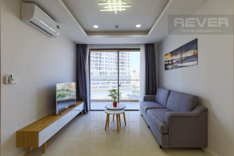 Phòng Khách Cho thuê căn hộ Masteri Millennium tầng trung, 2PN, đầy đủ nội thất
