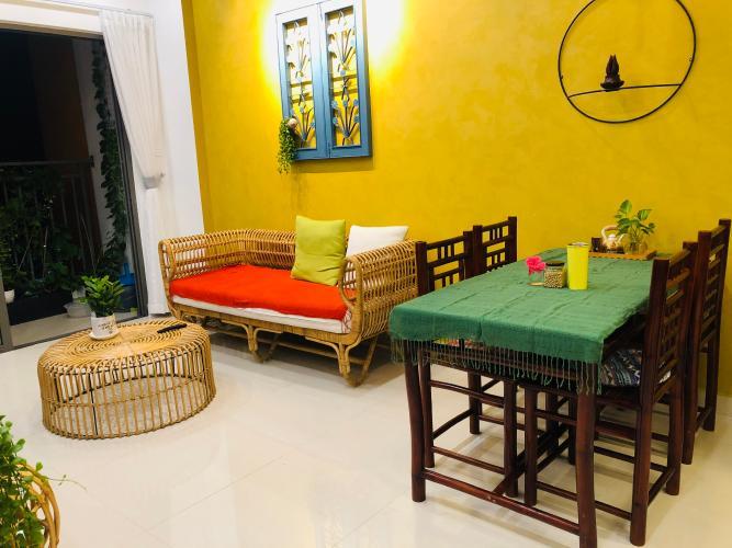 Phòng khách Căn hộ The Sun Avenue Căn hộ The Sun Avenue đầy đủ nội thất vintage, thiết kế nổi bật.