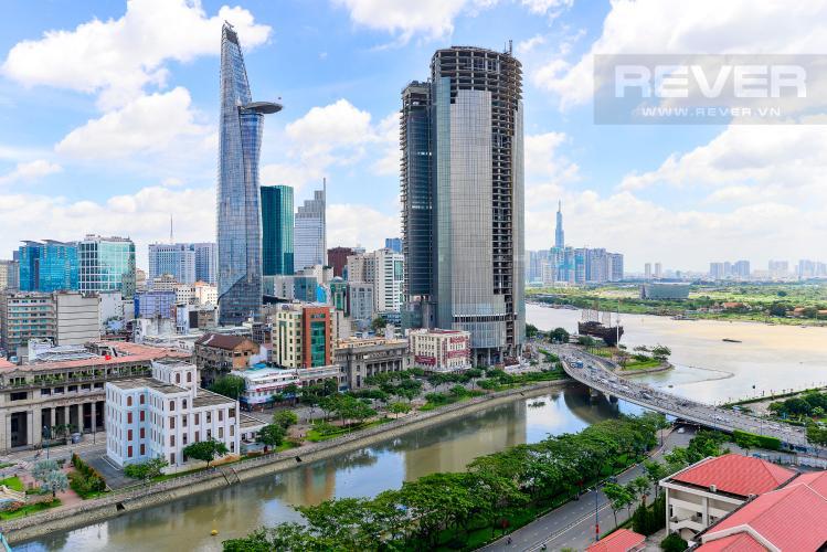 View Cho thuê căn hộ Saigon Royal 2PN, tháp A, đầy đủ nội thất, view Bitexco và sông Sài Gòn