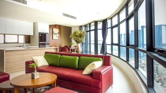 Căn hộ City Garden tầng cao, 3PN đầy đủ nội thất, view đẹp