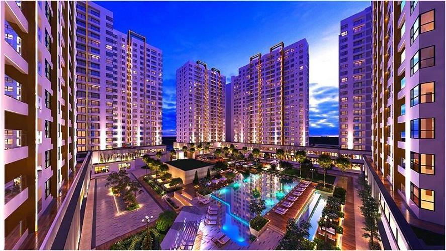 Dự án căn hộ Akari City, Bình Tân Căn hộ góc tầng 05 Akari City, view thành phố thoáng mát
