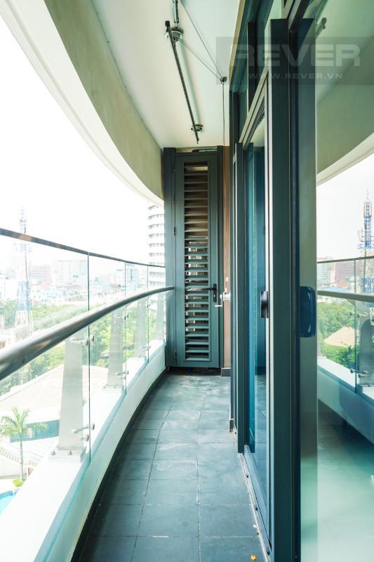 Ban Công Cho thuê căn hộ City Garden 1 phòng ngủ, tháp Promenade 2, đầy đủ nội thất, view trực diện hồ bơi