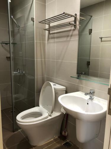 Phòng tắm căn hộ Masteri Thảo Điền Căn hộ 2 phòng ngủ Masteri Thảo Điền, tầng cao, nội thất tiện nghi