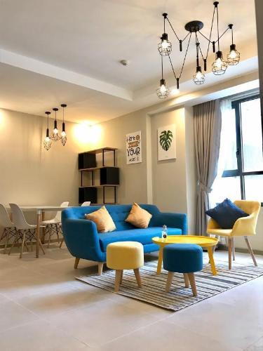 Cho thuê căn hộ tầng cao The Gold View nội thất đầy đủ.