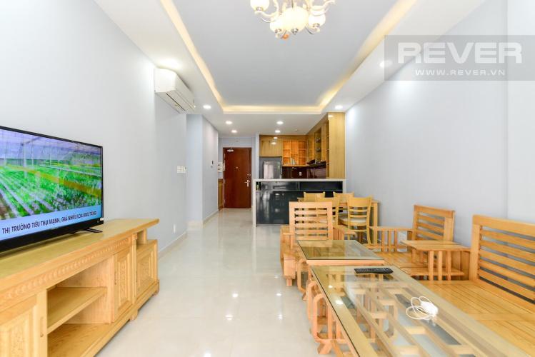 Phòng khách căn hộ The Gold View Cho thuê căn hộ The Gold View 2 phòng ngủ tầng thấp, diện tích 81m2 - 2 phòng ngủ