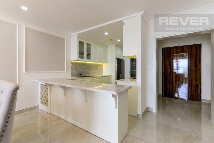 Không Gian Bếp Cho thuê căn hộ tầng cao Léman Luxury Apartments, 2PN, đầy đủ nội thất