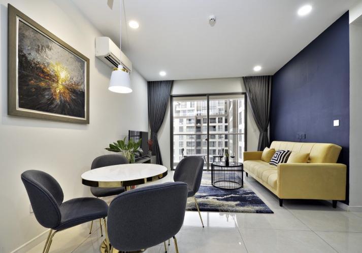 Phòng khách Masteri Millennium Quận 4 Căn hộ Masteri Millennium tầng cao, ban công hướng Đông Bắc.