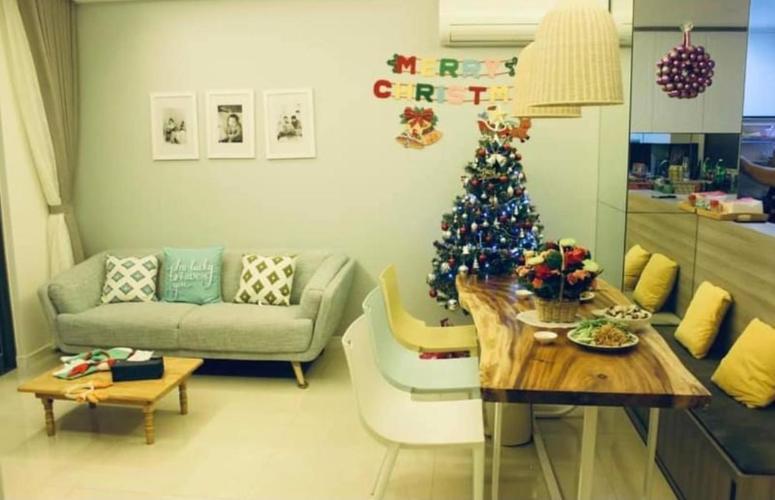 Phòng khách Masteri Millennium Quận 4 Căn hộ tầng trung Masteri Millennium nội thất đầy đủ.