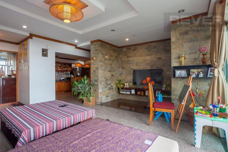Phòng Khách Căn hộ Hoàng Anh River View 4 phòng ngủ block C nội thất đầy đủ