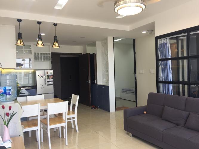 Phòng khách căn hộ RiverGate Residence Cho thuê căn hộ RiverGate Residence 1PN, tháp A, đầy đủ nội thất, view thoáng