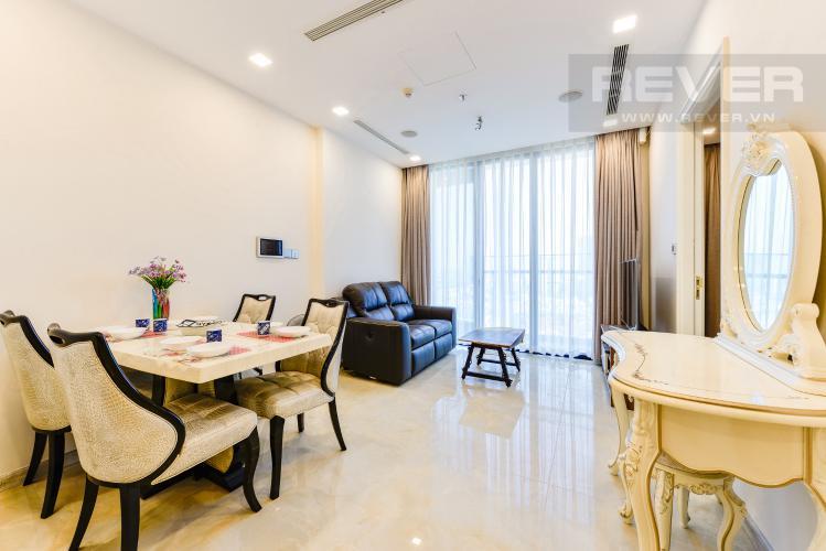 Phòng khách Căn hộ Vinhomes Golden River tầng cao, 2PN, đầy đủ nội thất, view đẹp