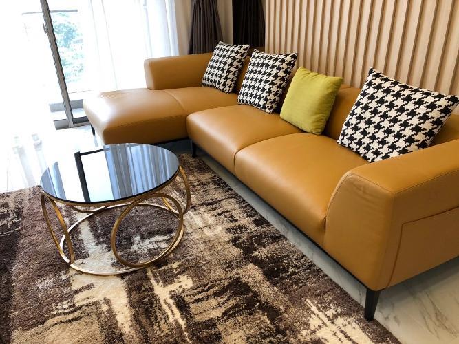 Phòng Khách căn hộ PHÚ MỸ HƯNG MIDTOWN Cho thuê căn hộ Phú Mỹ Hưng Midtown 3PN, diện tích 135m2, đầy đủ nội thất, view sông thoáng mát