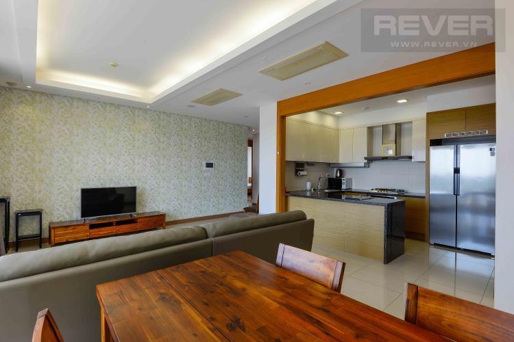Phòng Khách Cho thuê căn hộ Xi Riverview Palace tầng trung 3 phòng ngủ, đầy đủ nội thất, view sông mát mẻ