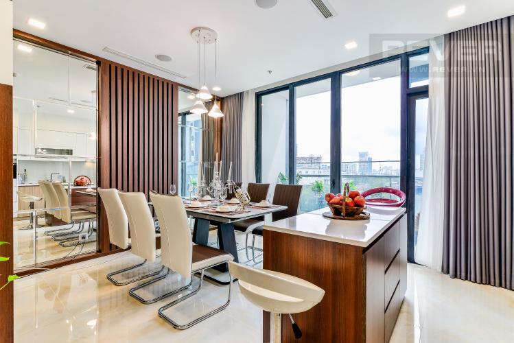 Phòng Ăn & Bếp Căn hộ Vinhomes Golden River tầng thấp, tháp Aqua 3, 3 phòng ngủ, hướng Đông Bắc, view sông