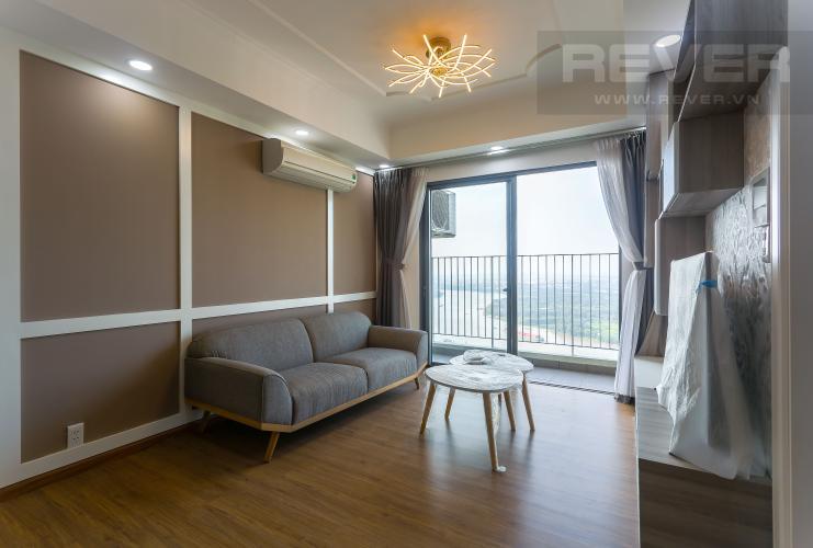 Phòng Khách Cho thuê căn hộ Masteri Thảo Điền tầng cao, 3PN, view sông