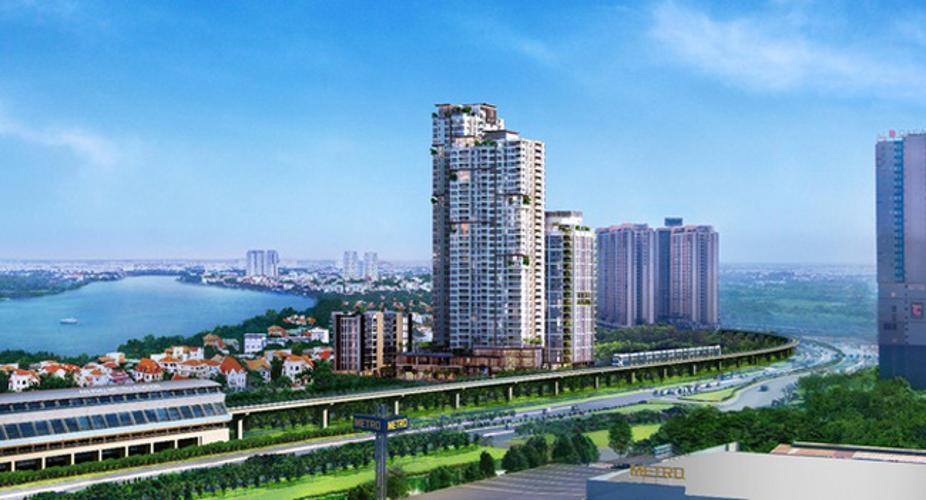 dự án Gateway Thảo Điền Căn hộ Gateway Thảo Điền tầng trung, view thành phố sầm uất.