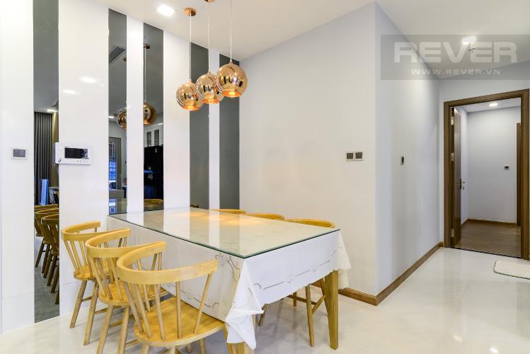 Phòng Ăn Căn hộ Vinhomes Central Park tầng cao, 2PN, đầy đủ nội thất, view hồ bơi