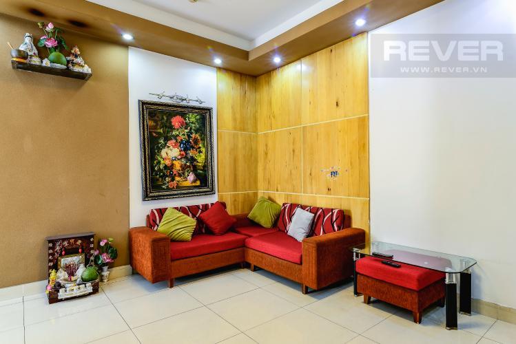 Phòng Khách Căn hộ Chung Cư Khánh Hội 1 tầng thấp 2 phòng ngủ nội thất đầy đủ