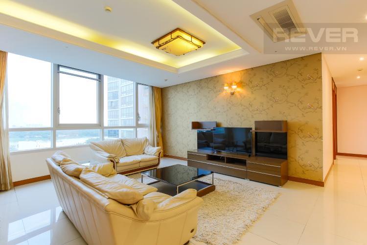 Phòng Khách Căn hộ Xi Riverview Palace 3 phòng ngủ tầng trung block 101 nội thất có sẵn