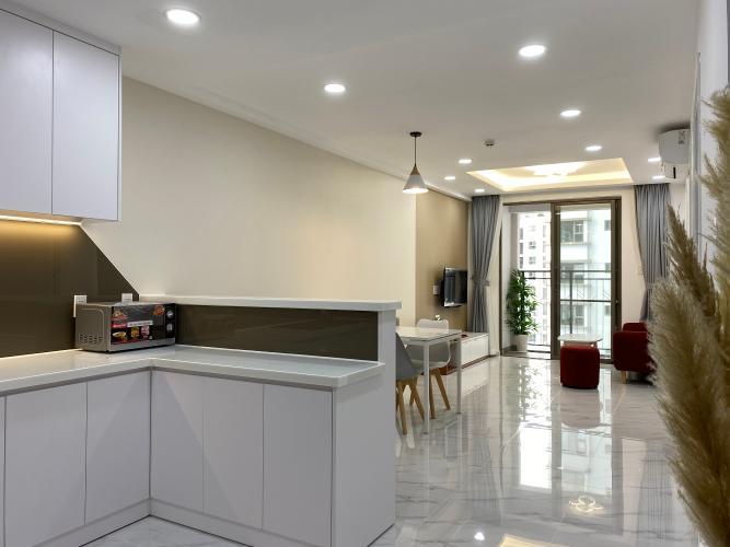 Bếp SSR Căn hộ Saigon South Residence đầy đủ nội thất, view nội khu.