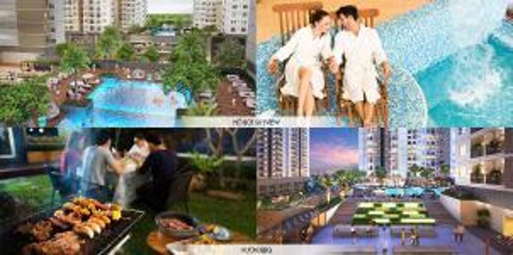 tiện ích căn hộ q7 boulevard Căn hộ tầng cao Q7 Boulevard 2 phòng ngủ, nội thất cơ bản.
